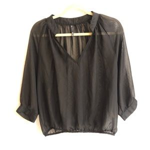 Love Culture black sheer top